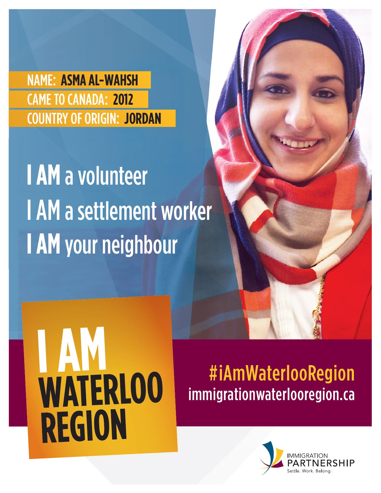 I Am Waterloo Region - Asma Alwahsh - Immigration Waterloo Region