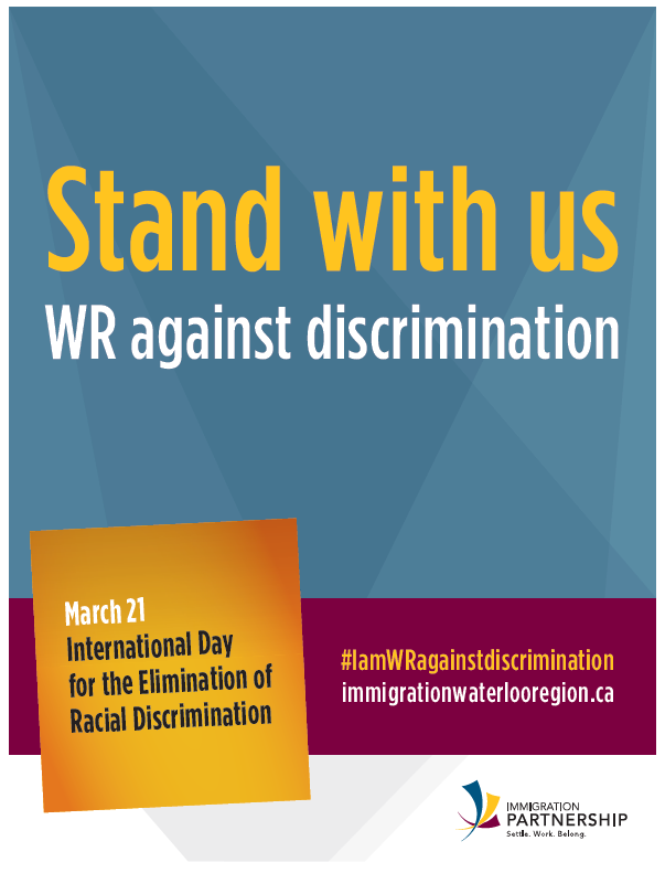 I am Waterloo Region Against Discrimination Poster